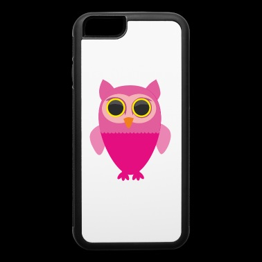 Cute Owl Tee Shirt Gift for men and women - iPhone 6/6s Rubber Case