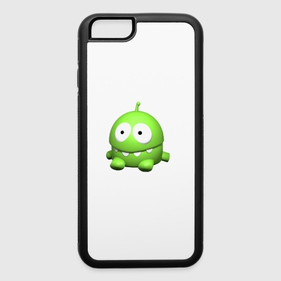 Monster, sitting, cute, cartoon, bright green - iPhone 6/6s Rubber Case