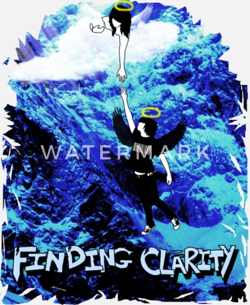 Heart iPhone Cases - Blue coral heart - iPhone 6/6s Plus Rubber Case white/black