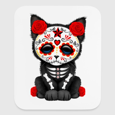 Red Sugar Skull Kitten - Mouse pad Vertical