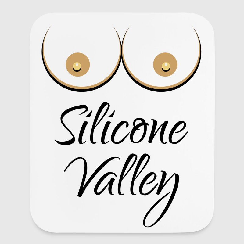 Silicone Valley (Falsies / Silicone Breast) - Mouse pad Vertical