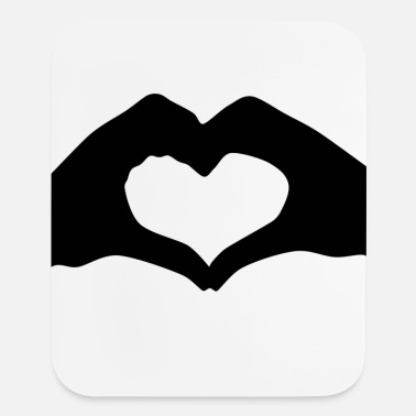 Love Silhouette Heart Hands | Mousepad - Mouse Pad