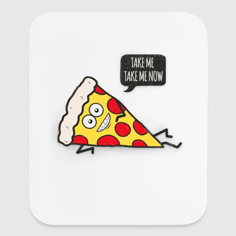 Funny Cartoon Pizza - Statement / Funny / Quote - Mouse pad Vertical