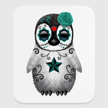 Blue Sugar Skull Penguin - Mouse pad Vertical