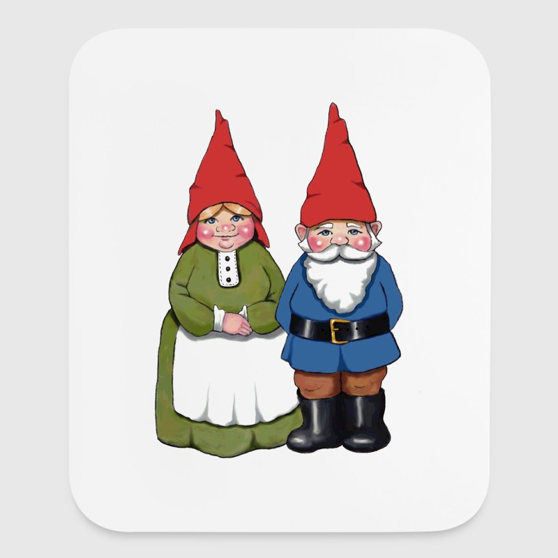 Gnome Couple - Mouse pad Vertical