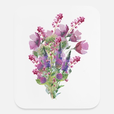 Watercolor bouquet - Mouse pad Vertical