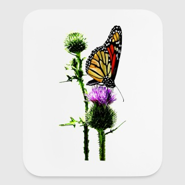 Monarch on Thistle - Mouse pad Vertical
