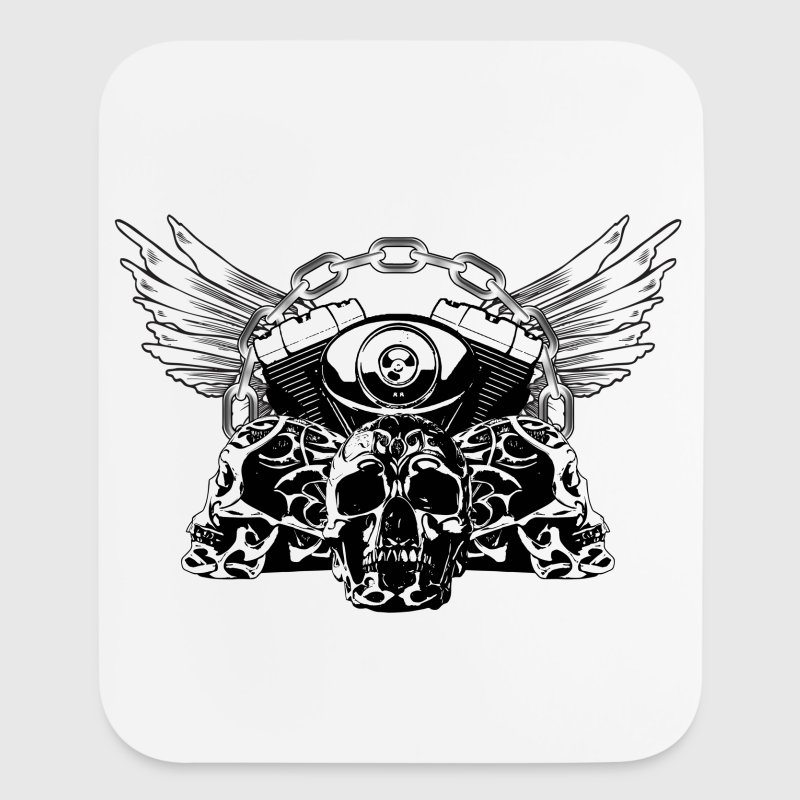 Tribal Skulls Biker Design 5 - Mouse pad Vertical