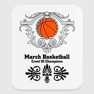 March Basketball Crest - Mouse pad Vertical