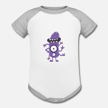 Long Funny Long - Contrast Baby Bodysuit