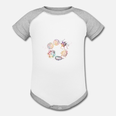 Human viruses and microbes - Contrast Baby Bodysuit
