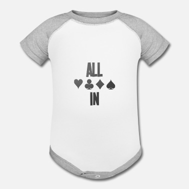 Pik Poker ALL IN Karten Pik Texas Holdem - Contrast Baby Bodysuit