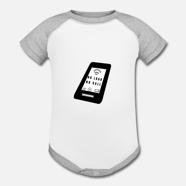 Mobile Phone Mobile PHONE - Contrast Baby Bodysuit