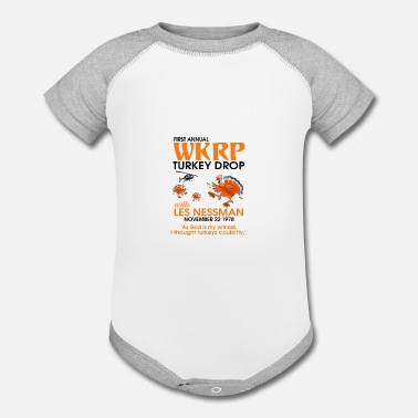 Annual Party First Annual Turkey Drop Tee shirt - Baseball Baby Bodysuit