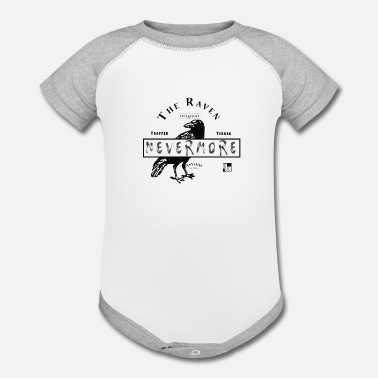 Insane Satire The Raven Asylum ( Grey Text) - Baseball Baby Bodysuit