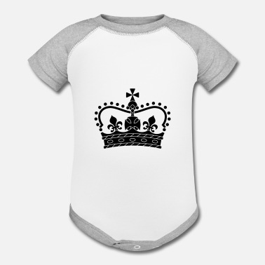 Symbols & Shapes Crown, symbol, shape - Contrast Baby Bodysuit