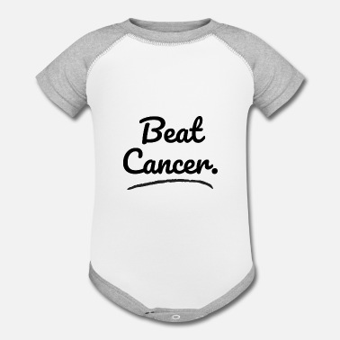 Cure Cancer Beat Cancer, Cure Cancer, Cancer awareness - Contrast Baby Bodysuit