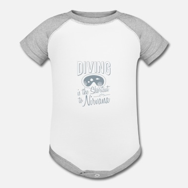 Nirvana Diving is the shortcut to Nirvana - Contrast Baby Bodysuit