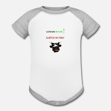 Animal Welfare Protect the animals! Animal welfare! - Contrast Baby Bodysuit