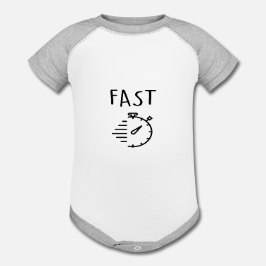 Fast fast - Contrast Baby Bodysuit