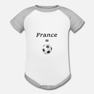 f6b7ba98dc6 france ist world champion in soccer. - Contrast Baby Bodysuit