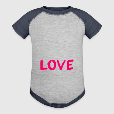 Cute Love Shirt Gift Idea for men and women - Baby Contrast One Piece