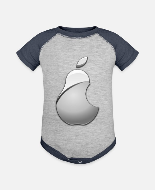 Graphics Baby One Pieces - Pear Logo - Baseball Baby Bodysuit heather gray/navy