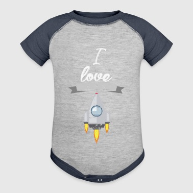 I love spaceships 2 gift - Baby Contrast One Piece