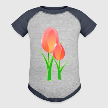 Tulips - Baby Contrast One Piece