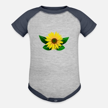 Sunflowers sunflower, sunflowers - Baseball Baby Bodysuit