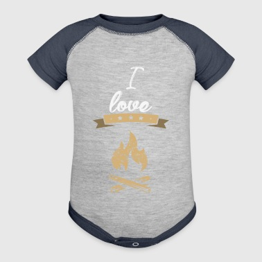 I love camping gift - Baby Contrast One Piece