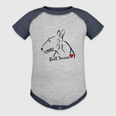Bull Terrier ❤ - Baby Contrast One Piece