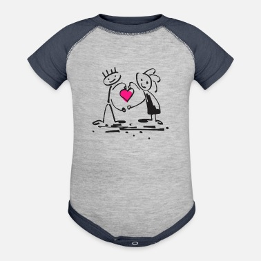 Stick Drawing Human Stick Figure Drawing - Contrast Baby Bodysuit