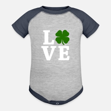 Four Leaf Clover Four Leaf Clover Love - Contrast Baby Bodysuit