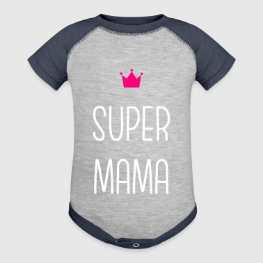 Super Mama - Baby Contrast One Piece