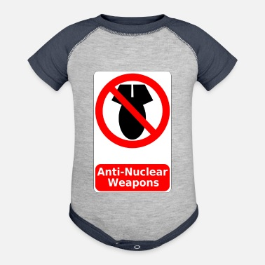 Anti Nuclear Power anti nuclear weapon - Baseball Baby Bodysuit
