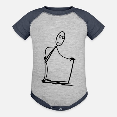 Stick Man old stick man - Baseball Baby Bodysuit