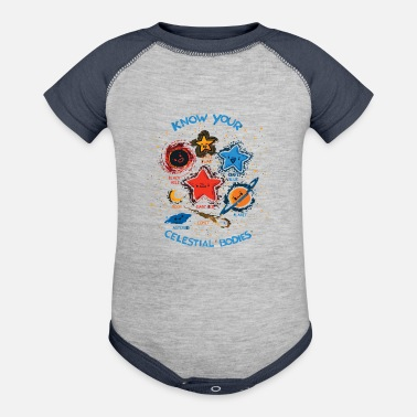 Celestial Bodies Know Your Celestial Bodies - Contrast Baby Bodysuit