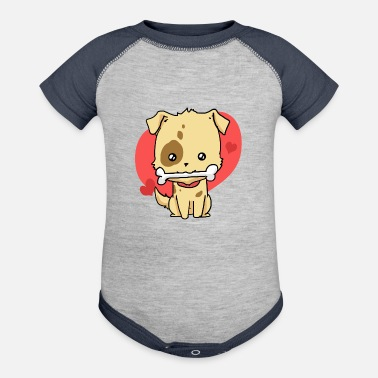 Cats dog cute heart gift idea - Baseball Baby Bodysuit