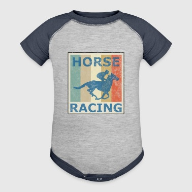 Retro Vintage Style Harness Racing Equitation - Baby Contrast One Piece