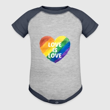 Gay Pride Love is Love - Baby Contrast One Piece