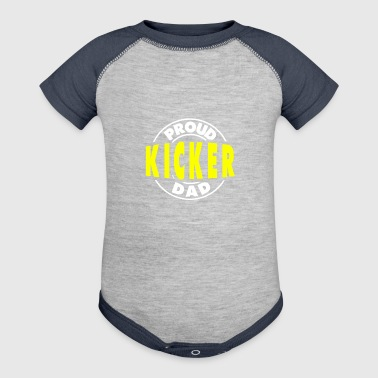 Proud Football Kicker Dad - Baby Contrast One Piece