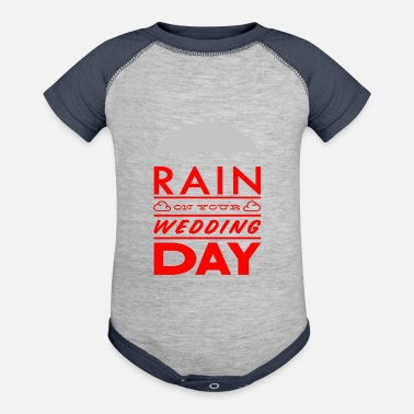 Wedding Day Rain on your wedding day - Contrast Baby Bodysuit