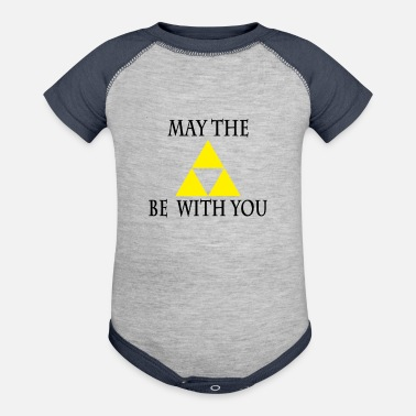 Link A Link To The Force - Contrast Baby Bodysuit