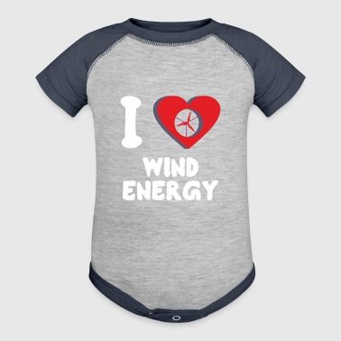 Green Power I Love Wind Energy - Baby Contrast One Piece