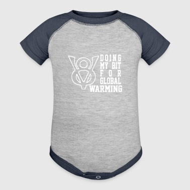 V8 V8 Global Warming Funny environment top gear - Baby Contrast One Piece