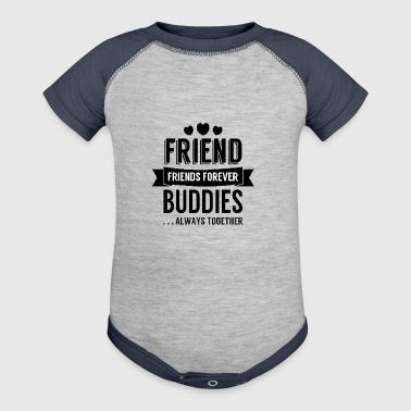 friend forever - Baby Contrast One Piece