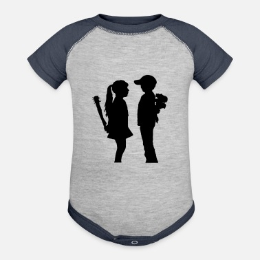 BOY MEETS GIRL FUNNY - Baseball Baby Bodysuit