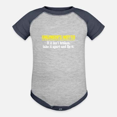 Motto engineers motto - Baseball Baby Bodysuit