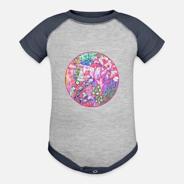 Trippy Trippy Forest - Baseball Baby Bodysuit